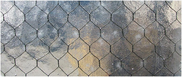 chicken wire glass