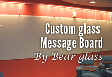 Customised Glass Message Board